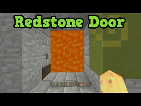 Minecraft Xbox 360 / PS3 Redstone Door: Password Protected Lava Door