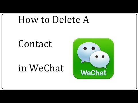 wechat delete contact