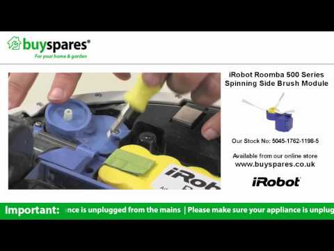 How To Replace The Side Brush Module on an iRobot Roomba Vacuum Cleaner