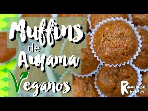 MUFFINS DE CALABAZA VEGANOS | Dulces con Auyama Vegana | Saludable y Fácil