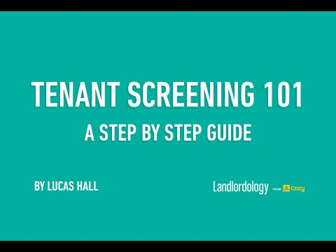 Webinar: Tenant Screening 101 (Mar 24, 2016) - A Guide to Evaluating Applicants, by Lucas Hall, Cozy