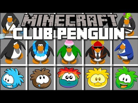Minecraft CLUB PENGUIN MOD / BECOME A PUFFLE AND A PENGUIN FROM CLUB PENGUIN!! Minecraft