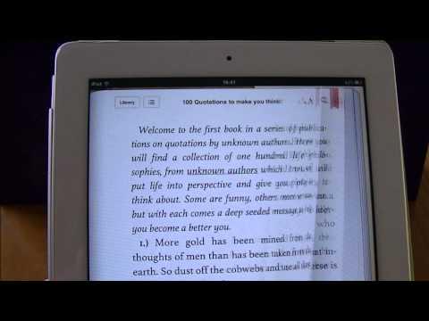 iBook App - How to bookmark