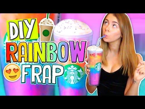 DIY Rainbow Starbucks Vanilla Bean Frappuccino!! Drinks for Summer 2016 // Jill Cimorelli