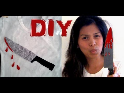 DIY Halloween Sweater - The Bloody Kitchen Knife