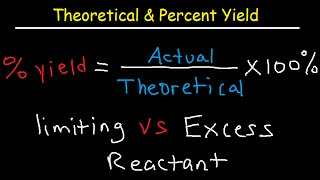 Theoretical Actual Percent Yield Error Limiting Reagent And Excess Re
