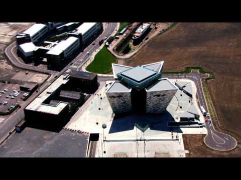 Aerial B-Roll video footage of Titanic Belfast® and Titanic Quarter®