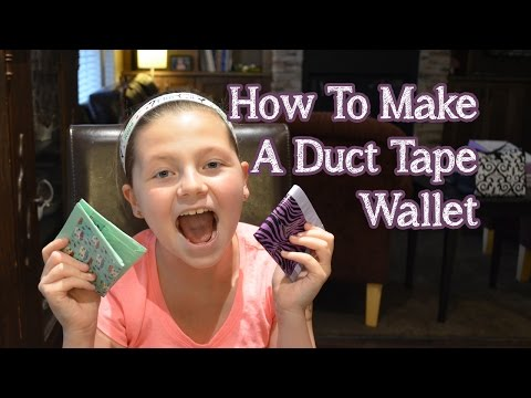 How To Make A Duct Tape Wallet | Bethany G