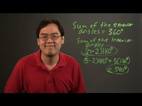 How to Figure Out the Sum of the Interior & Exterior Angle : Angles & Other Math Tips