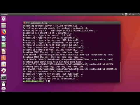 How to Enable SSH in Ubuntu 18.04 LTS / Ubuntu 16.04  (Install openssh-server)