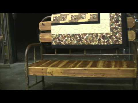Antique bed frame Benches