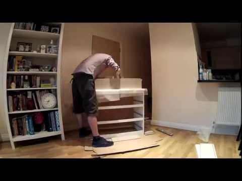 Building an IKEA Malm chest of drawers in 45 seconds