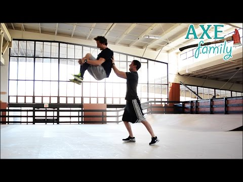 He went for it!  - Standing Backflips with Axe Family