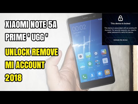 Unlock/Remove Mi Account Cloud Xiaomi Redmi Note 5A Prime Ugg + Fix Sensor Clean 100%