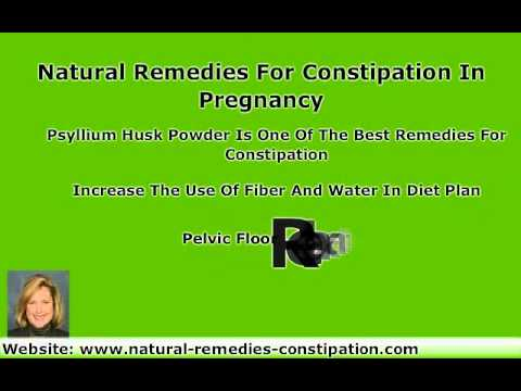 Natural Remedies For Constipation During Pregnancy