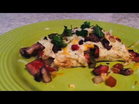 Messy turkey hotdog omelette....