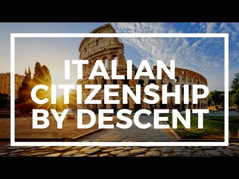 How to get Italian citizenship by descent?