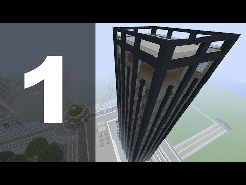 Minecraft Let's Build : 70's Style Skyscraper - Part 1