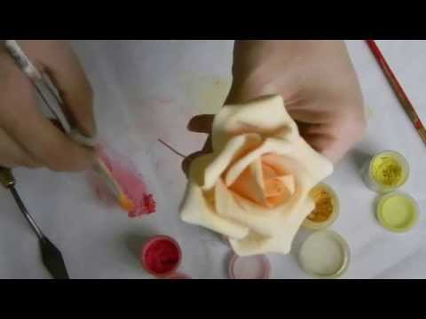 Kara's Couture Cakes - Finishing A Sugar Rose