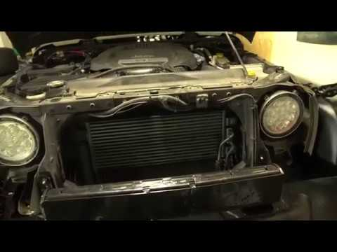 HOW TO INSTALL REPLACE OR UPGRADE YOUR JEEP WRANGLER JK RADIATOR