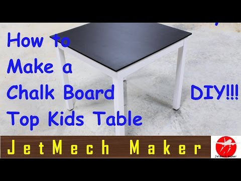 How to make: A Chalkboard Paint Kids Table w/Storage