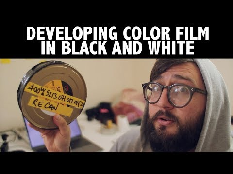 Color film in black and white chemicals