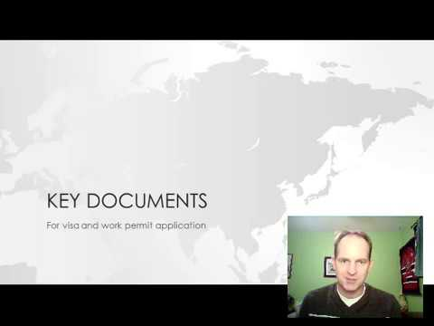 Key documents for Chinese Z visa and work permit application