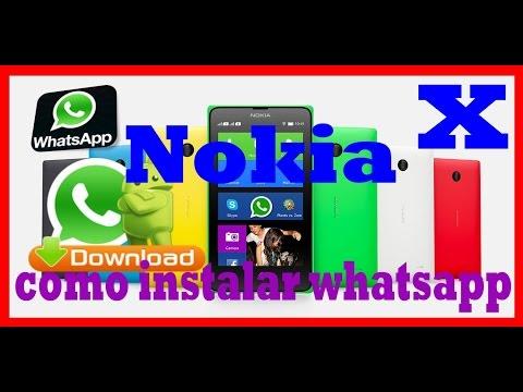 como instalar whatsapp no nokia x