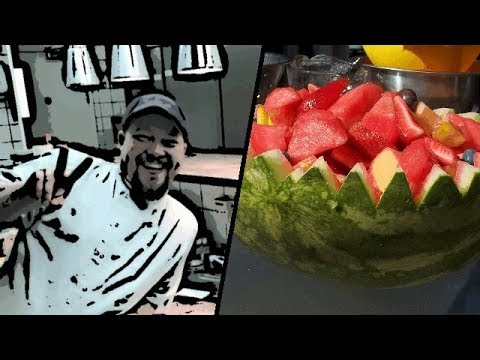 How To Cut A Watermelon - cutting a watermelon basket for fruit salad!