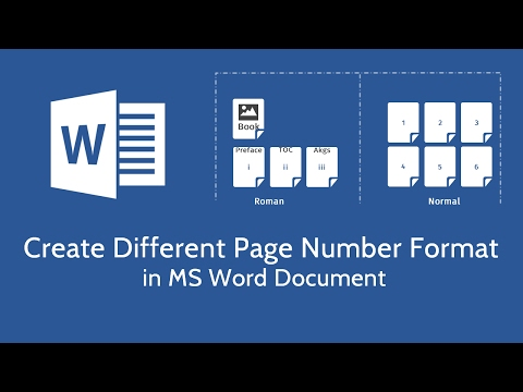 Create Different Page Number Format in Microsoft Word