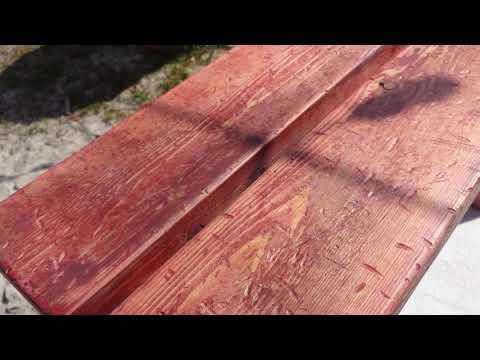 Distressed finish step stool