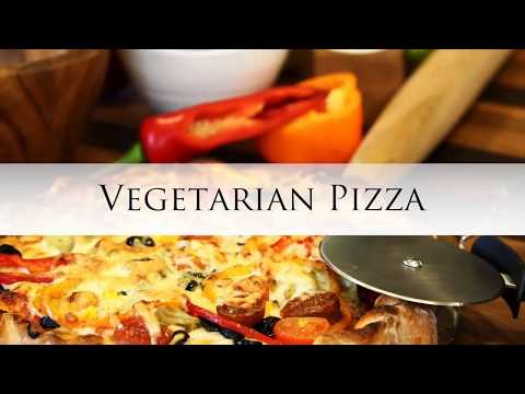 Vegetarian Pizza using the Cuisinart Chef's Convection Toaster Oven