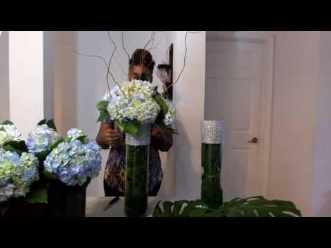 How to make floral arrangement  | Tall wedding arrangement | How to make a tall centerpieces