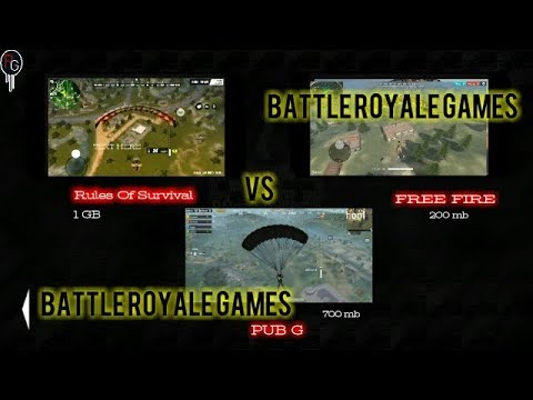 PUBG MOBILE VS RULES OF SURVIVAL VS GARENA FREE FIRE|| BATTLE ROYALE GAMES !! ANDROID