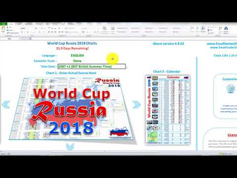 World Cup 2018 Russia Excel templates - Smartcoder247