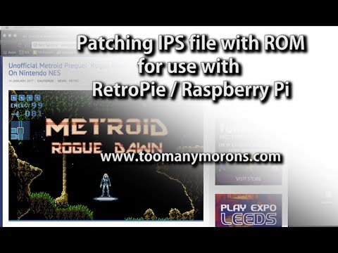 How To Patch an IPS file to ROM - RetroPie Emulator - Metroid Rogue Dawn