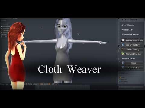 Cloth Weaver 1.0 - Blender Addon (Tutorial)