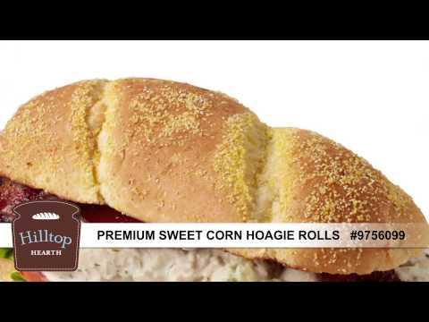 Hilltop Hearth® Premium Sweet Corn Hoagie Rolls