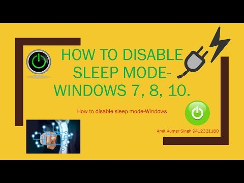 How to disable sleep mode Windows 7 , 8, 10. Disable Auto Sleep Mode, Turn off the sleep mode.