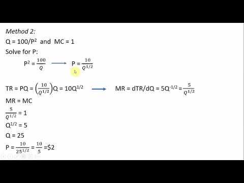 Monopoly Profit Maximization: Nonlinear (Constant Elasticity) Demand