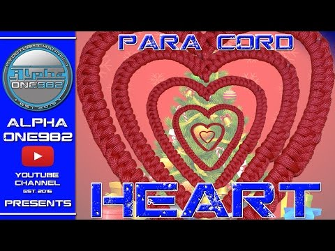 How to make Paracord HEART 2017