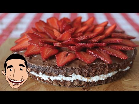 HOW TO MAKE RICOTTA STRAWBERRY CAKE RECIPE | Chocolate Nutella Cake Recipe