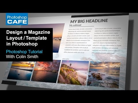 Create a magazine layout Template in Photoshop Tutorial | Download the Free Template