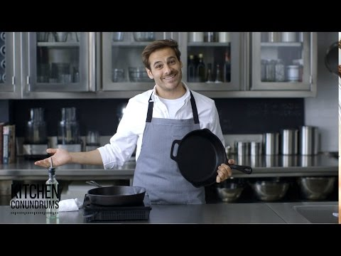 How to Clean and Season a Cast-Iron Skillet - Kitchen Conundrums with Thomas Joseph