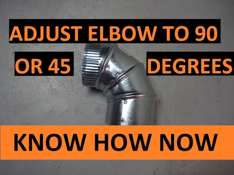 Adjust Round Adjustable Metal Duct Elbow 90 or 45 Degrees