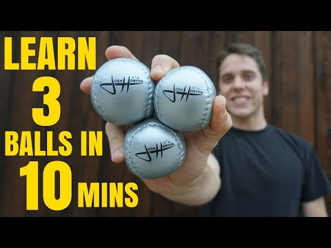 HOW TO JUGGLE 3 BALLS - Tutorial