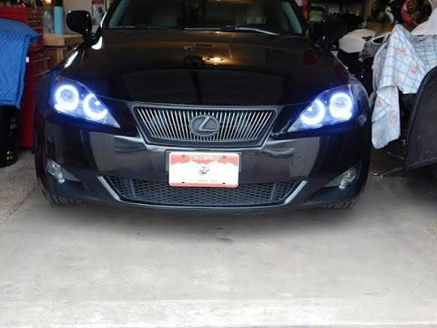 Lexus LED DRL headlights is 250 is 350 Custom rings is250 is350 2006-2014