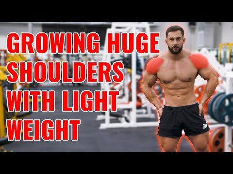 Training shoulders for a V-Taper - Using light weight to increase gains.