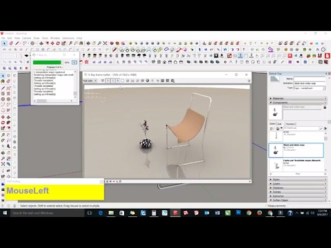 Sketchup Tutorial In Hindi : How To Make A Chair In Sketchup Part - 7