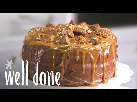 How To Make Chocolate Turtle Cake | Recipe | Well Done